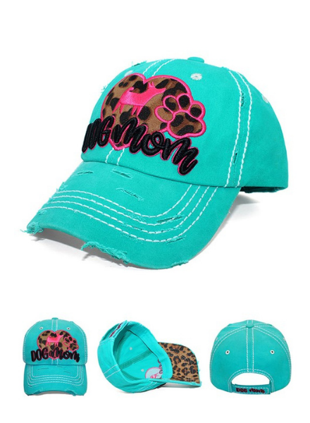 4350 District Leopard Dog Mom Distressed Cap