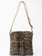 Leopard Faux Leather Cross Body Bag