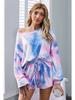 Shiying Fashion Tie Dye Long Sleeve and Shorts Set
