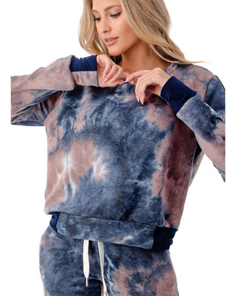 Follow Me Apparel Tie Dye LS Top and Jogger Set
