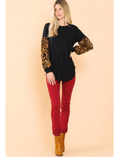 Magic Fit Tunic Top w/Leopard Sleeves