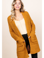 Reborn J Popcorn Knit Sweater Cardigan w/Pockets