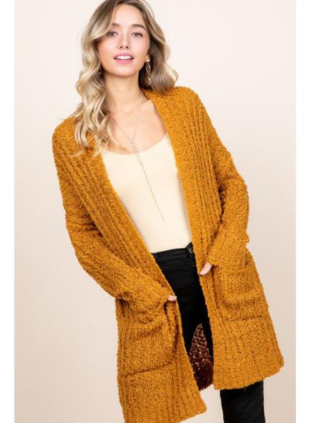 Reborn J Popcorn Knit Sweater Cardigan w/Pockets
