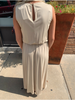 Mazik Sleeveless Maxi Dress w/Pockets & Side Slit