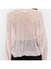 Strawberry Shake Knit Pullover with Puffy Sleeve Detail