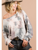 Bibi Tie Dye LS Terry Top w/Front Patch Pocket