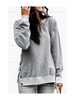 Mazik Round Neck Sweatshirt w/Side Buttons