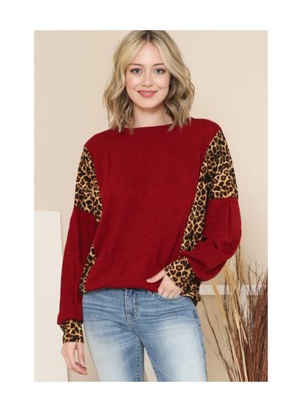 Magic Fit Leopard Side Detailed LS Top