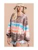 BucketList Tie Dye Round Neck Sweatshirt w/Kangaroo Pocket
