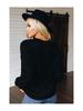Shiying Fashion Crew Neck Terry Cashmere Sweatshirt