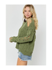Hers & Mine Round Neck Distressed Sweater