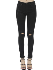 KanCan Mid Rise Skinny w/Knee Distress
