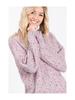 Macaron Round Neck Confetti Sweater