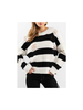 Wide Striped Destroyed Chenille Sweater
