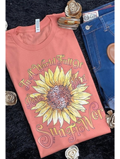 Canvas Be A Sunflower Graphic Tee