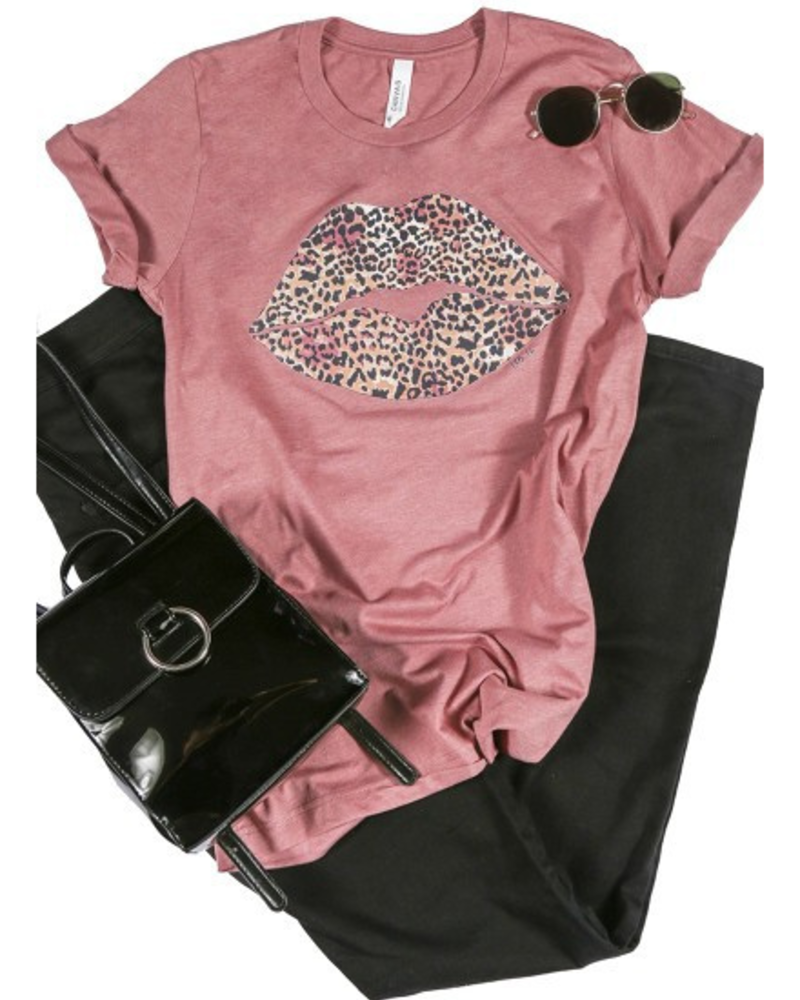 Canvas Leopard Lips Graphic Tee