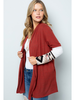 Acting Pro Solid Cardigan w/Aztec Print Sleeves