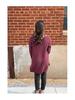 Zenana Premium Round Neck Hi-Low Split Hem Popcorn Sweater