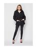 Love Tree Full Zip/Button Belted Puffer Coat w/Detachable Hood