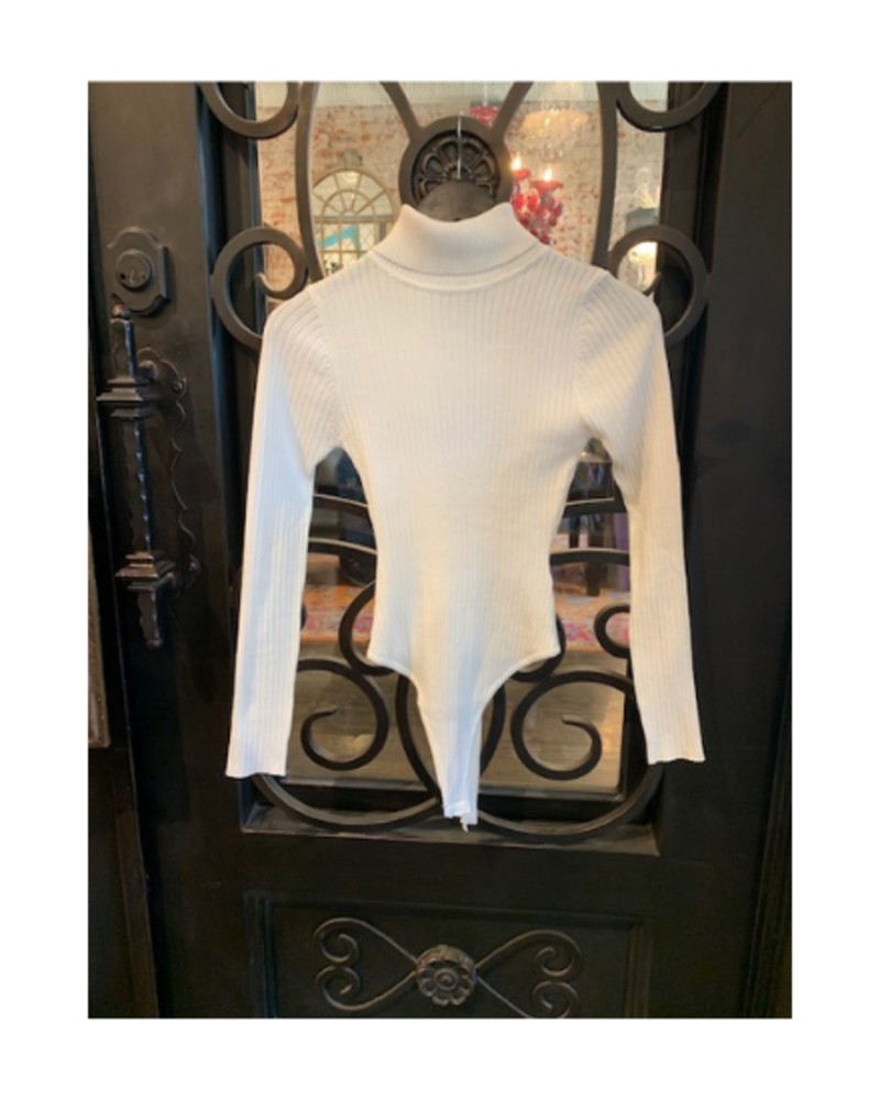 Debut Rib Knit Turtle Neck Body Suit