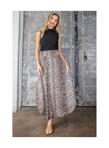 Ee:some Smocked Waist Maxi Skirt
