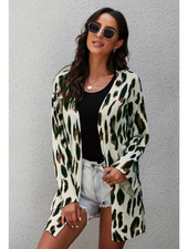 Shiying Fashion Relaxed Fit Knit Cardigan w/Flared Sleeves