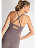 Knittrend Cut Out Racerback Tank w/Removable Padding
