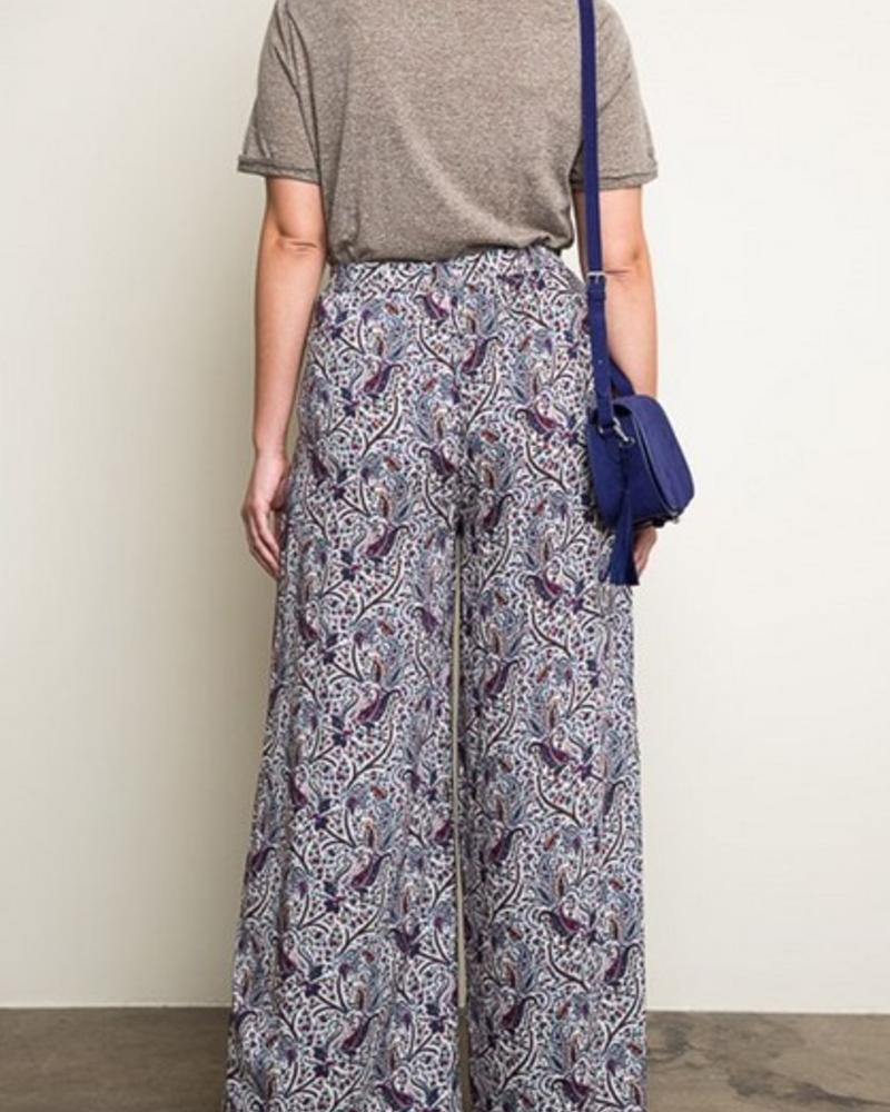 HAYDEN LOS ANGELES CREAM MIX PALAZZO PANT F.FIGURED -