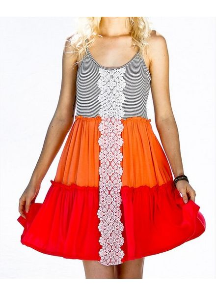 Color Block Crochet Dress