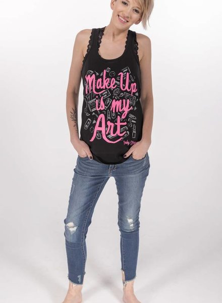 "Pinky Star- ""Makeup is My Art"" Racerback Tank -"