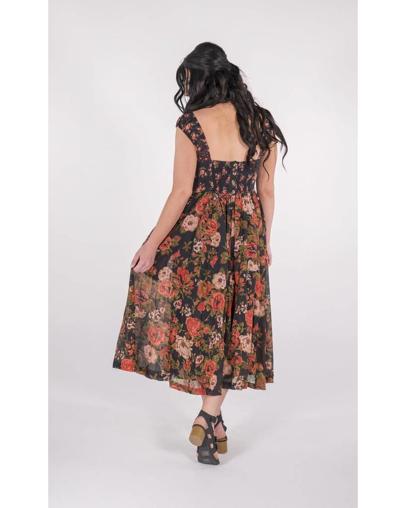 "Free People Love You Midi Dress ""FLORAL"""