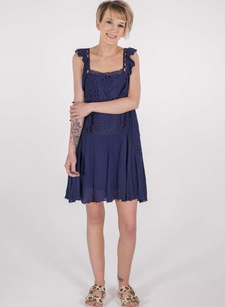 "Free People Priscilla Dress ""Navy""  -"