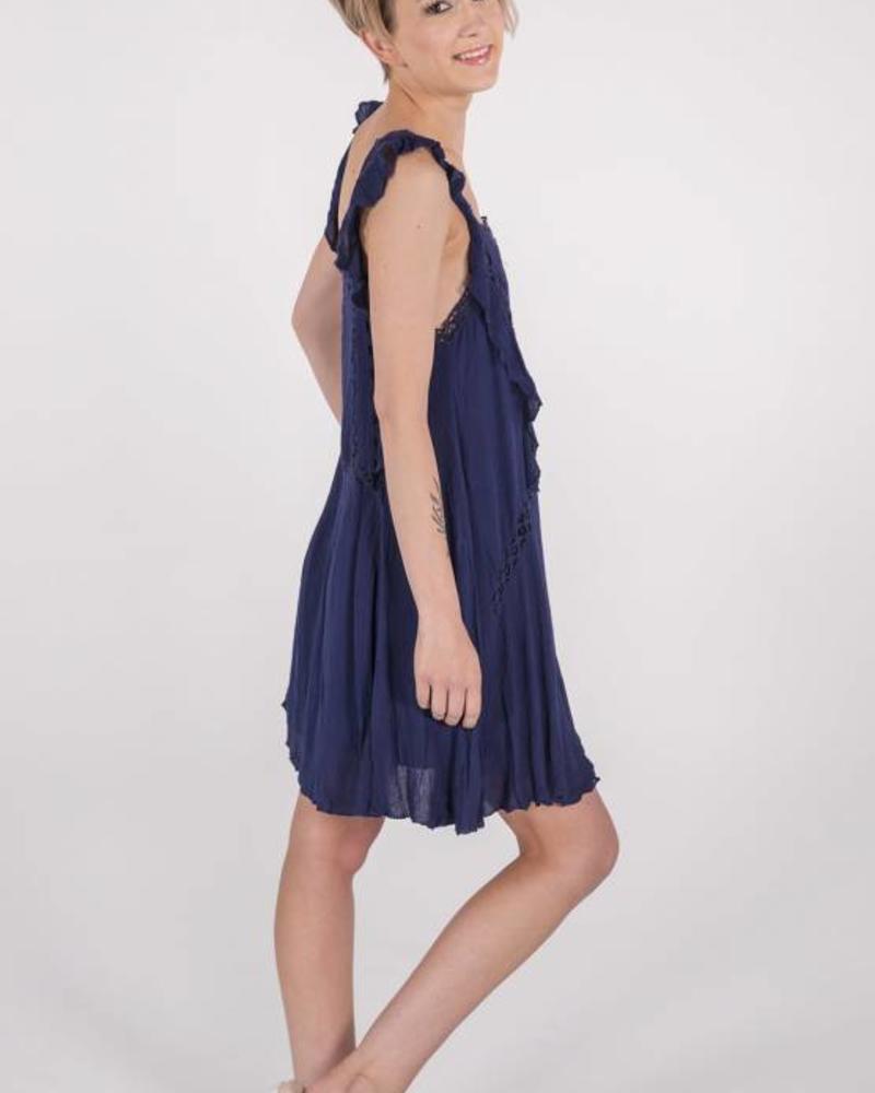 "Free People Priscilla Dress ""Navy""  -"