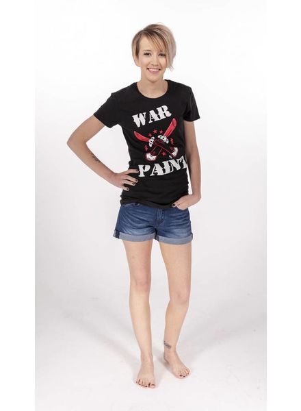 "Pinky Star- ""War Paint"" v-neck tee -"