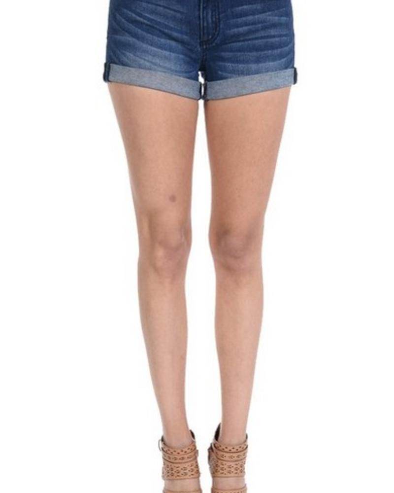 KanCan Kan Can Denim - Dark Cuffed Shorts
