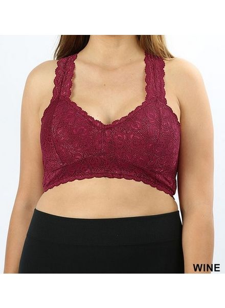 Women's Intimates - Removable Padded Lace Bralettes