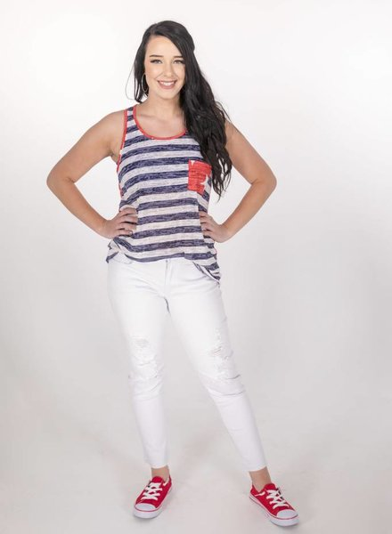 Kan Can White Distressed Cropped Skinny