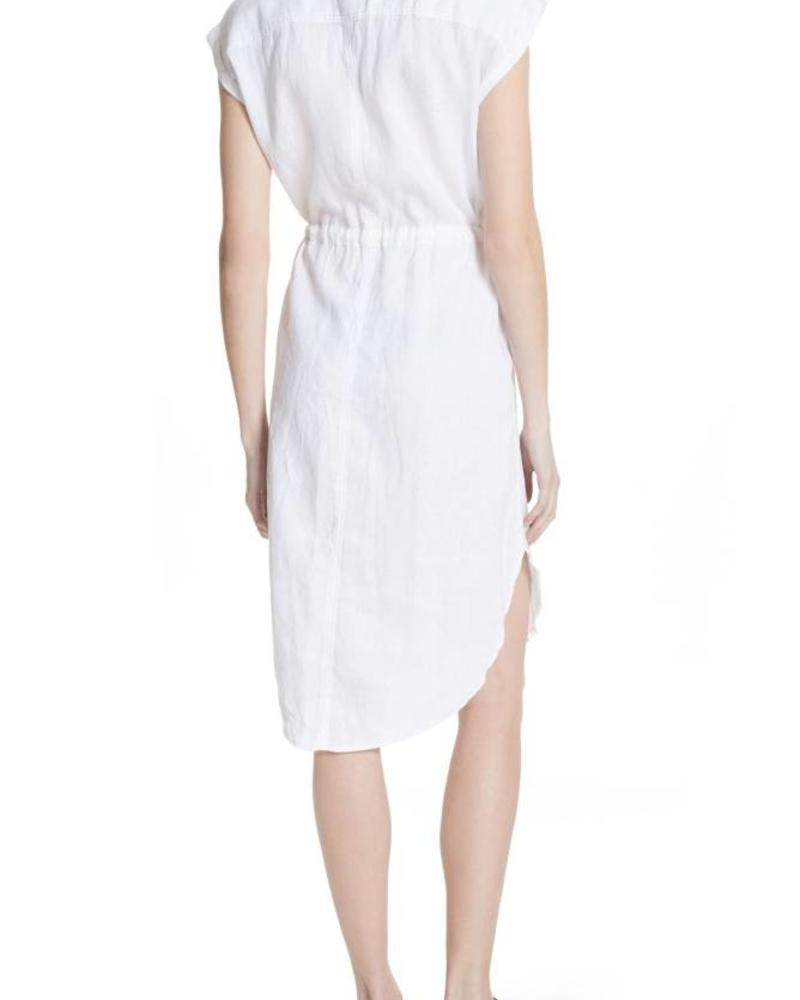 Free People WHITE CRISP LINEN BUTTON UP DRESS Free People -