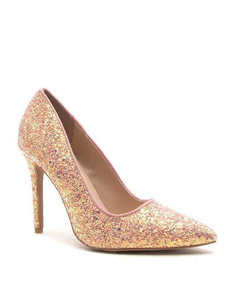 Pink A-Run Glitter Heels