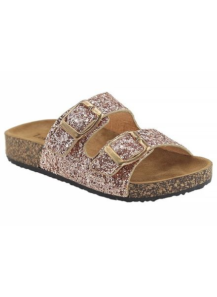 """Glory"" Rose Gold Glitter Sandal -"