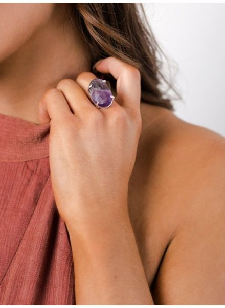 Purple Gemstone Ring