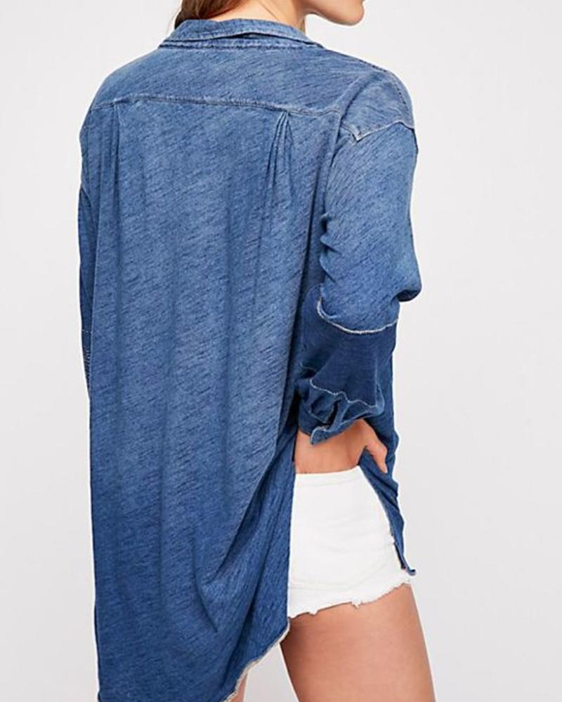 "Free People Love This Henley ""NAVY"""