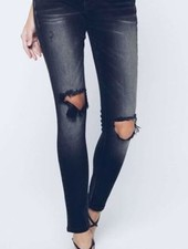 Kan Can Kan Can- Chanel Pearson Black Distressed Skinny Jean
