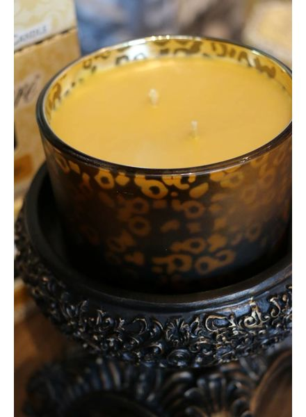 16 oz High Maintenance Stature Muted Gold Leopard Candle