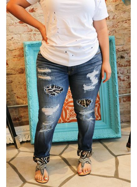 Kan Can Kan Can- Holly Garza Leopard Skinny Jean