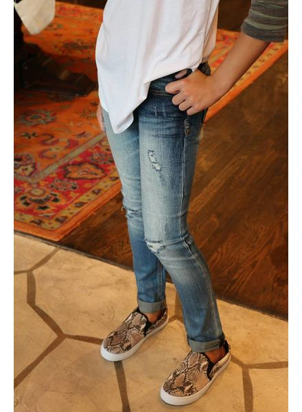 Grace in L.A. Grace in L.A. Denim - Distressed Rolled Crop Jean