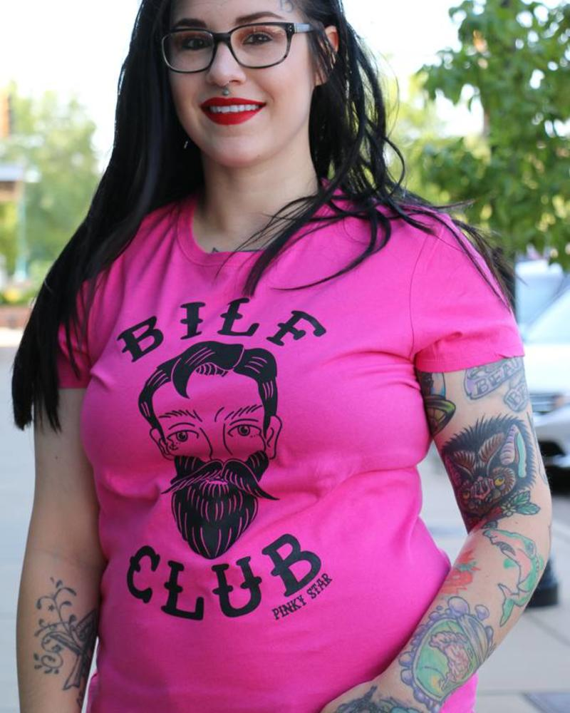 "Pinky Star- ""Bilf Club"" v-neck tee"