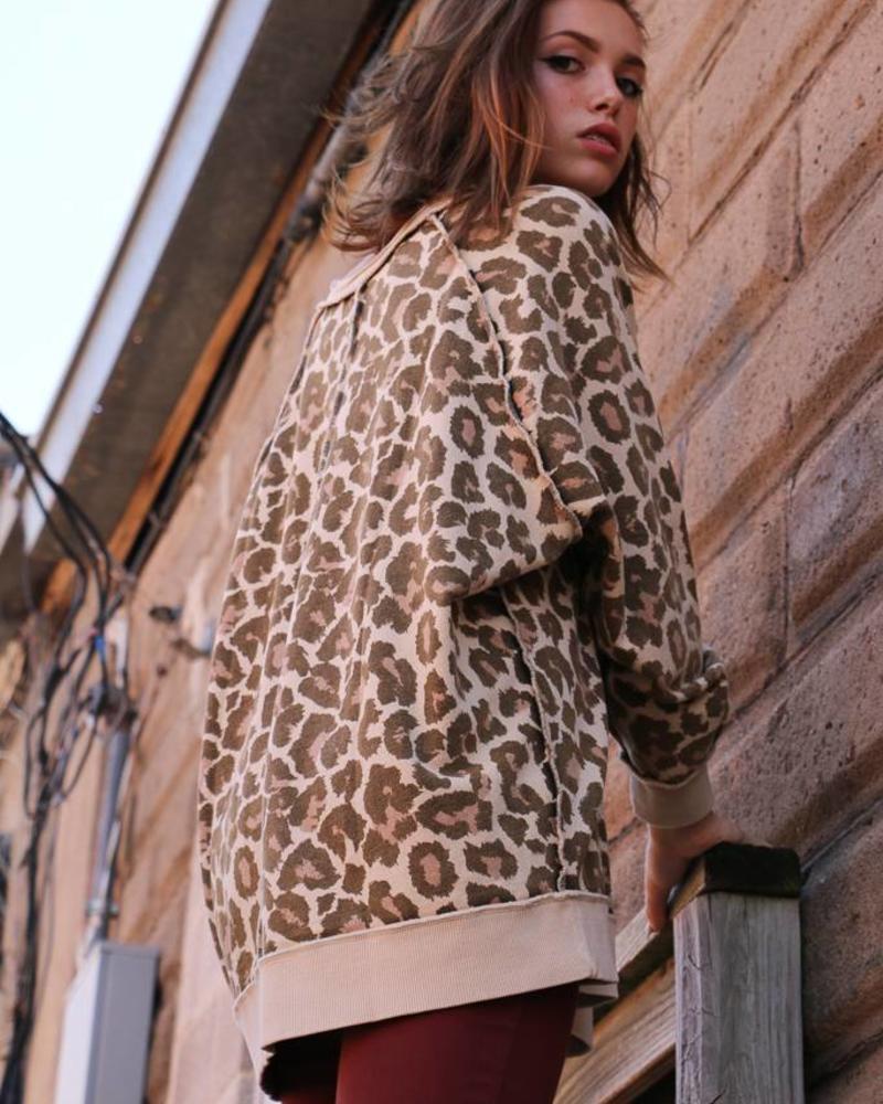 Free People Free People - Cheetah Natural Sweater