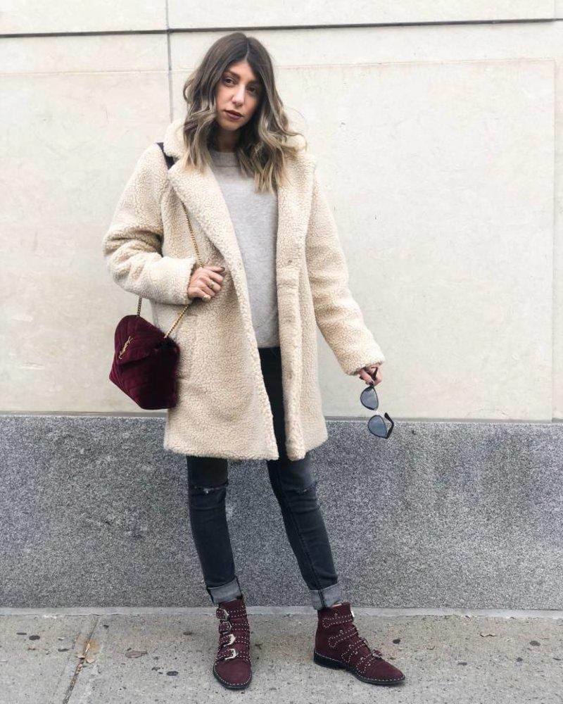 Nouveau Noir Aurelia Oversized Sherpa Coat