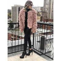 Belledonne Ostrich Feather Jacket Blush **FINAL SALE**